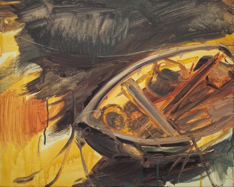 Monique Sliedrecht ,  Flood Tide , Acrylic on linen (Courtesy the artist).