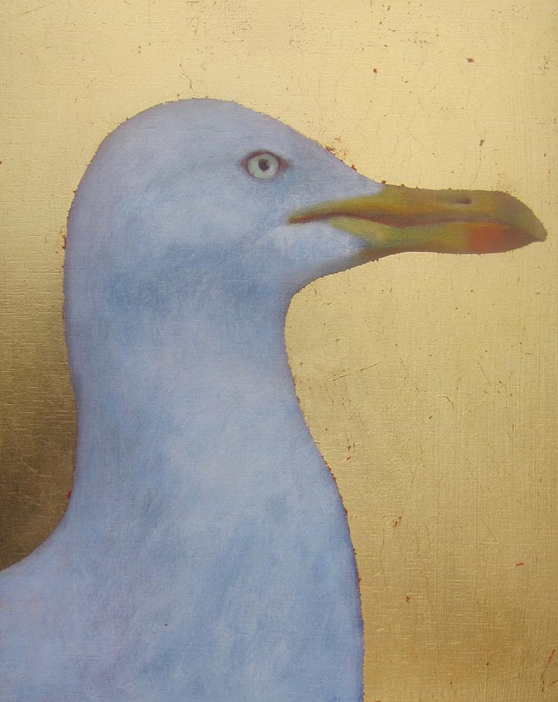Jane MacNeill , Herring Gull. (Oil on Board, image courtesy the artist/An Talla Solais Gallery).