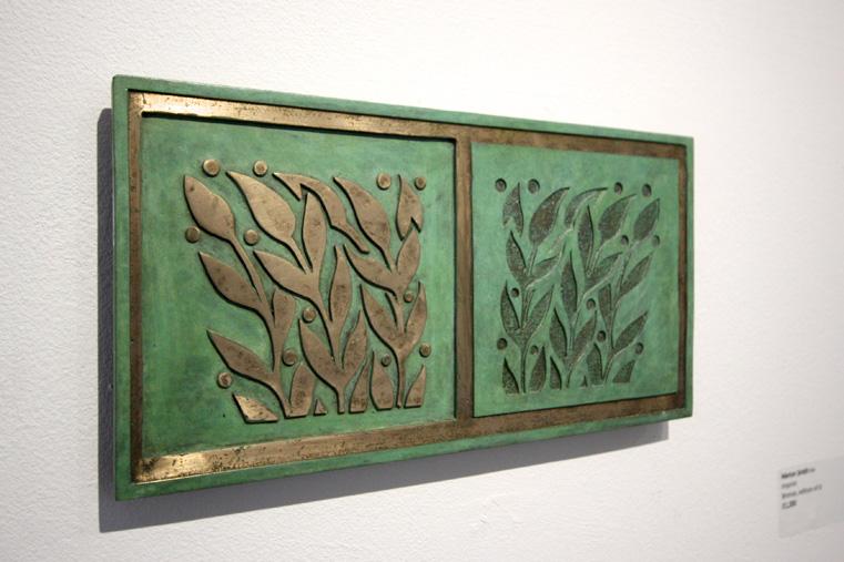 Marion Smith ,  Imprint . Bronze, edition of 6. (Installation View) (Photo: Ian McKay)