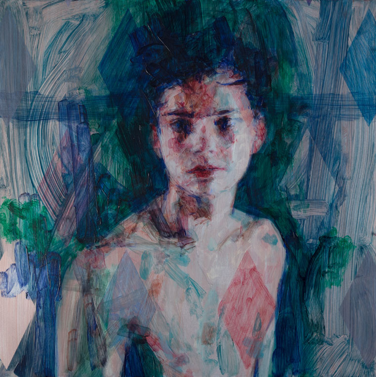 Casper White ,  Iris Of Every , 2019, Oil On Aluminium, 50 x 50 cm. (Photo: courtesy Arusha Gallery)