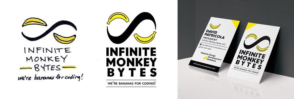 Branding development for Infinite Monkey Bytes