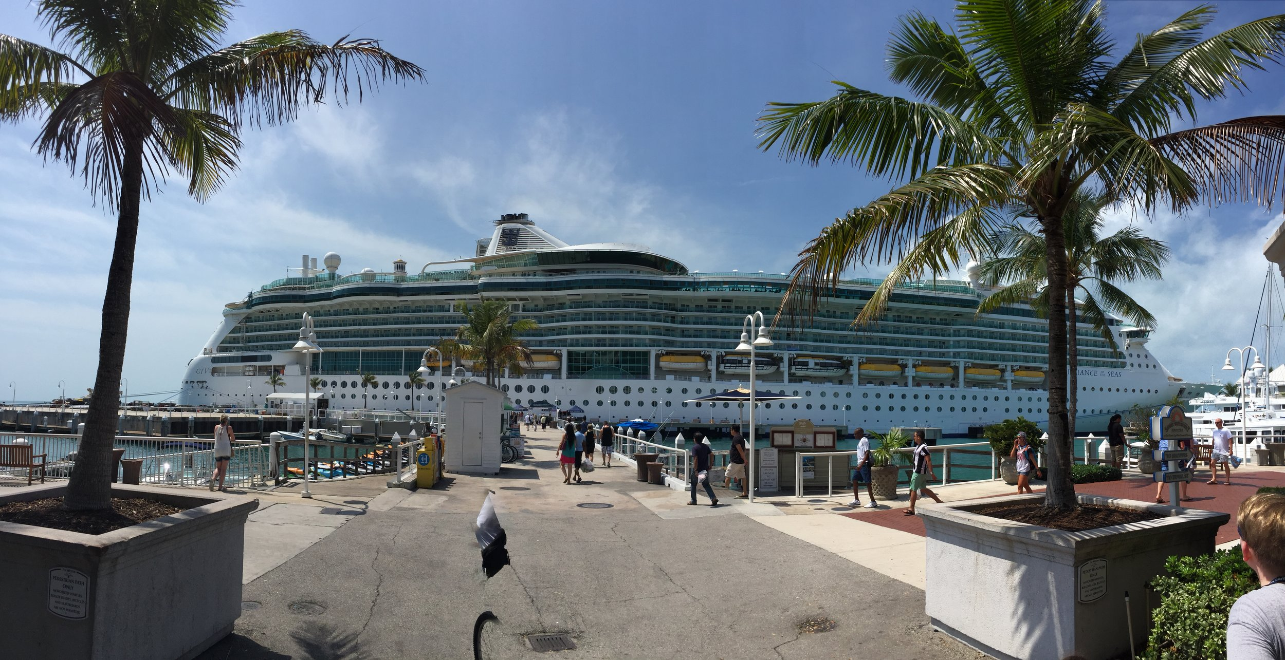 The port side of the ship.