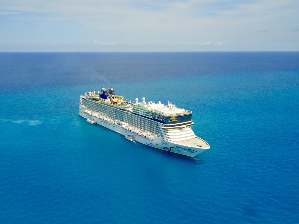 Norwegian Epic Drone Shot off GSC