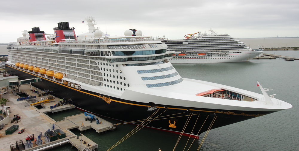 Disney Fantasy and Carnival Magic in Port Canaveral with us