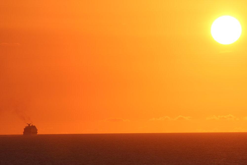 Sunset (Carnival Vista on the Horizon)