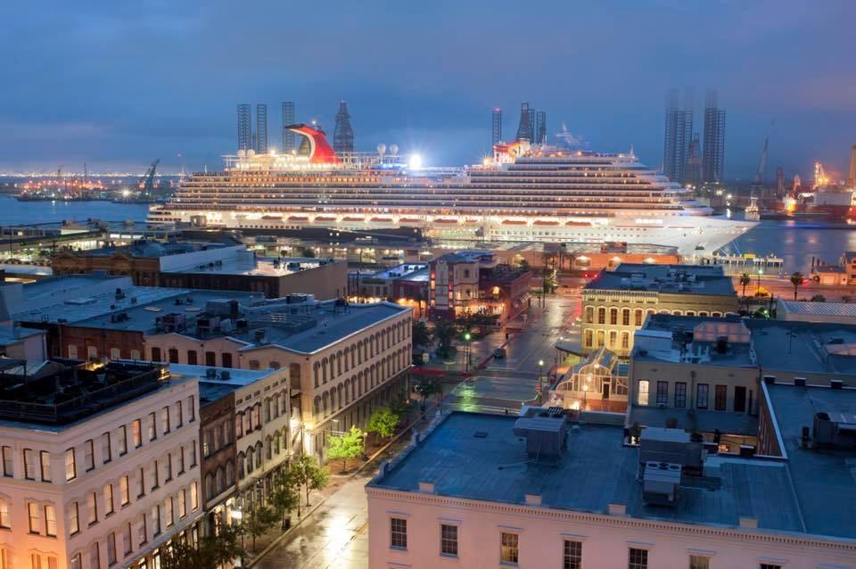 The Carnival Vista docked in Galveston, Texas yesterday September 23, 2018