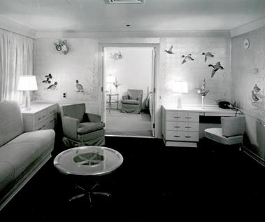 A room on-board the ship