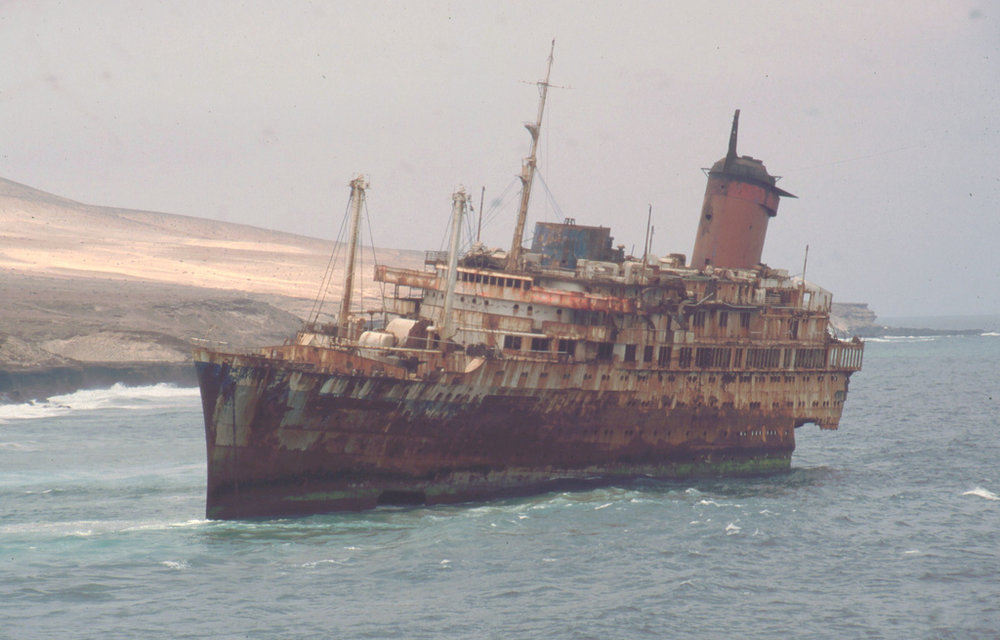 S.S. America washed up