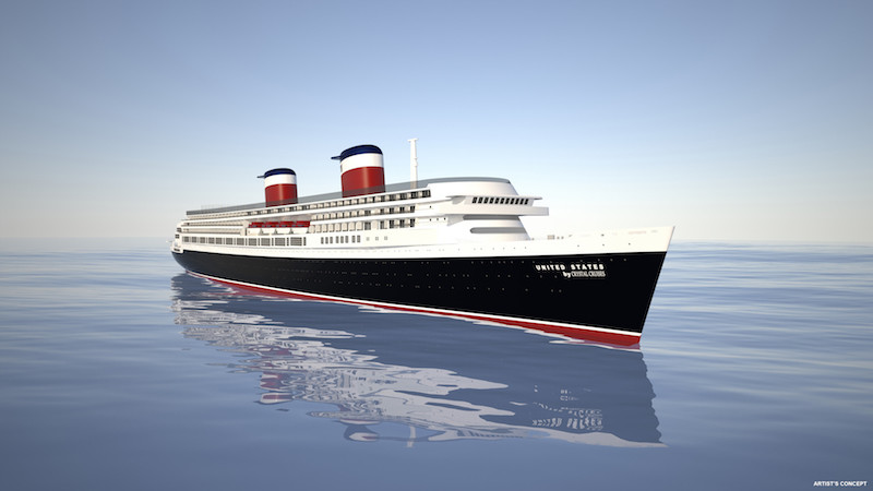 S.S United States new design under Crystal Cruises