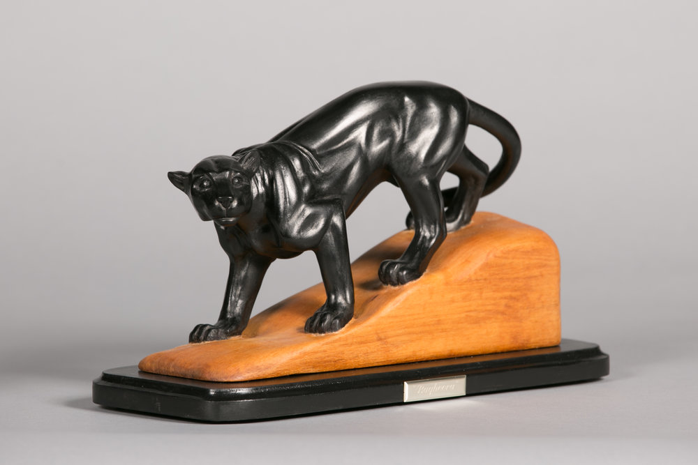 """""""Bagheera"""" black panther by Barbara Kerr"""