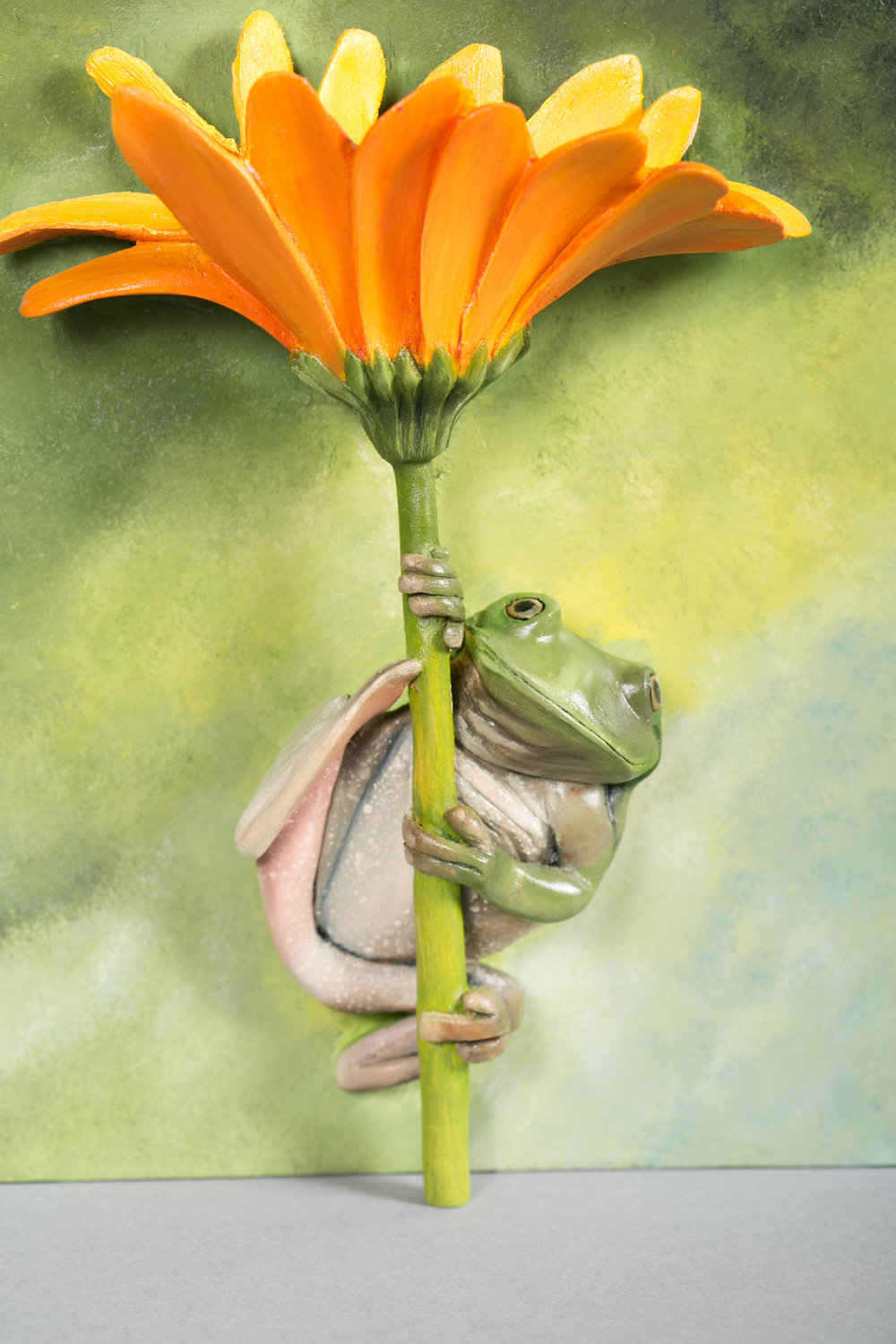"""""""Frog on a Flower"""" by Tom Wilkirson"""
