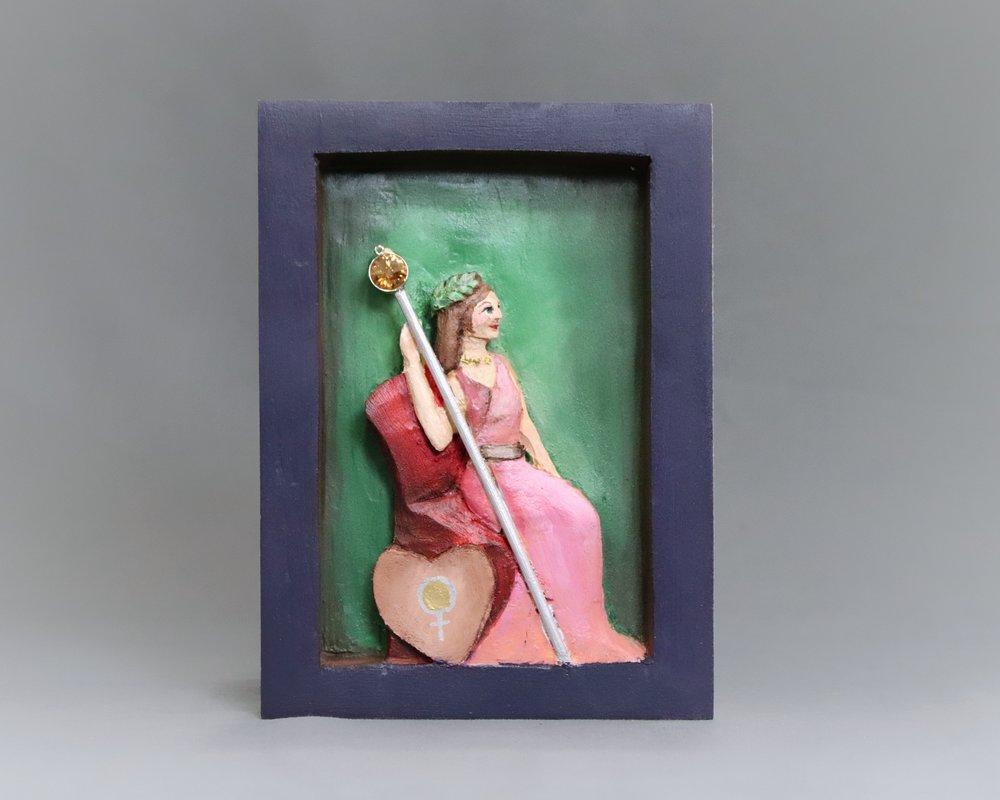 """Tarot Card, Empress in Pink"""