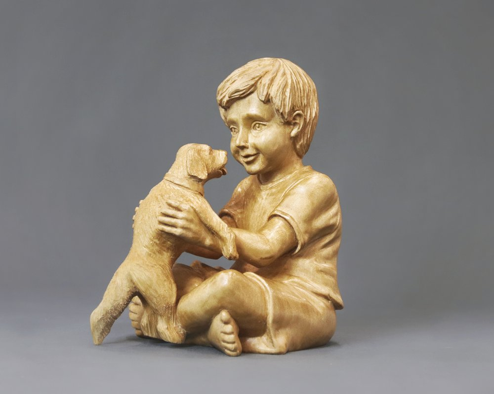 """Boy with Puppy"""