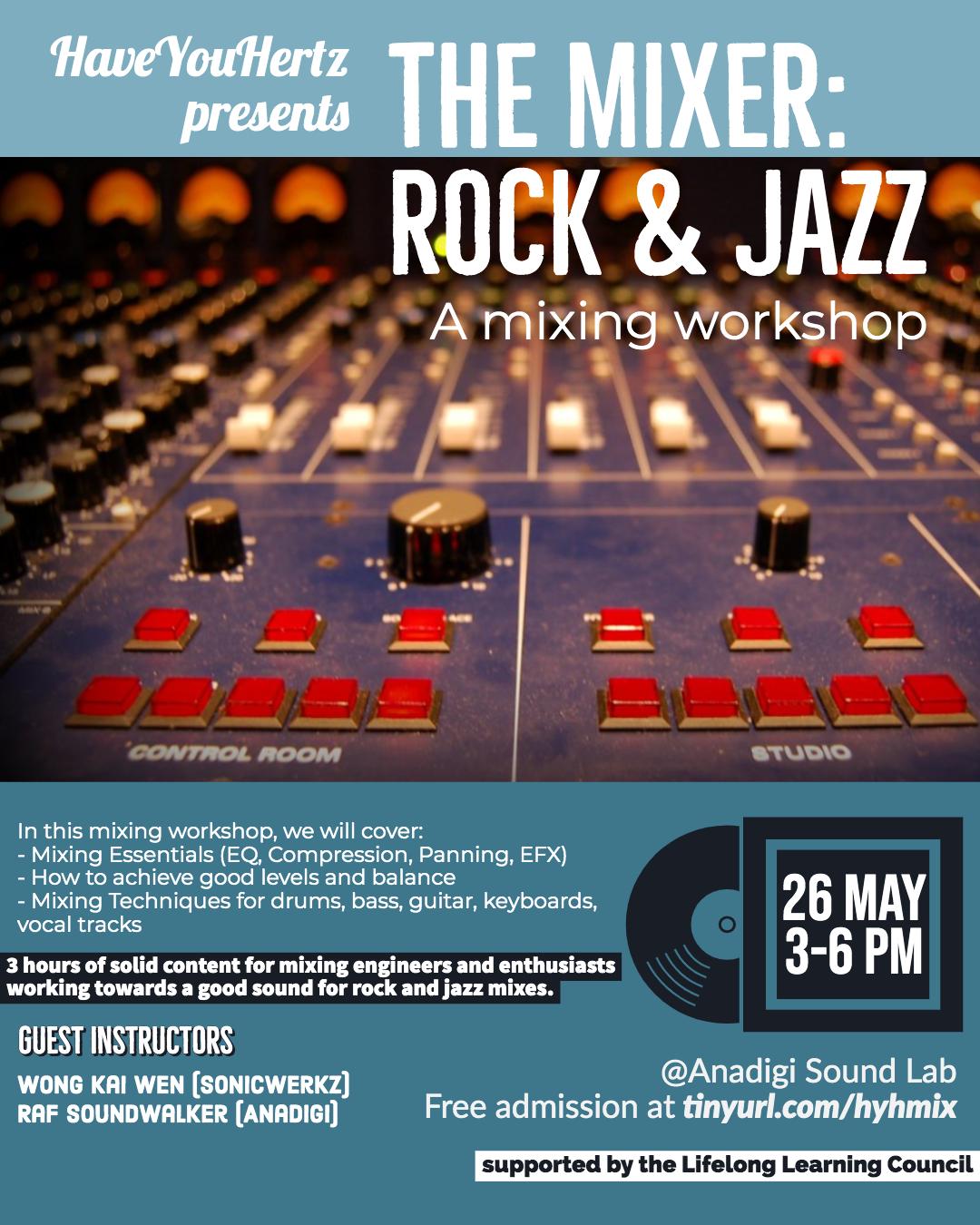 THE MIXER: ROCK & JAZZ - a Mixing Workshop by by