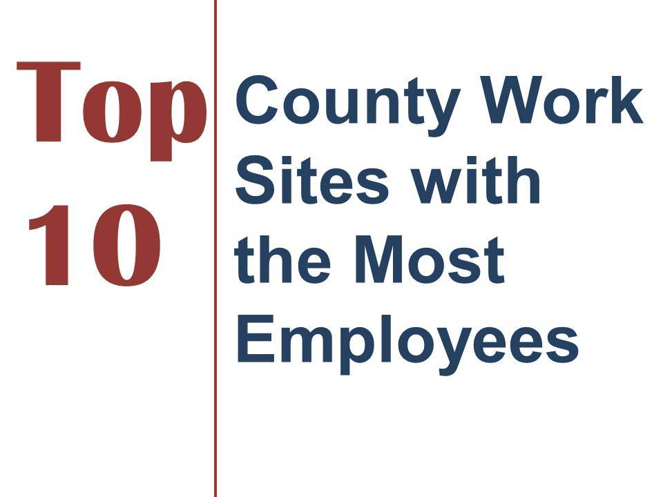 Top 10 Most Populated County Workplaces