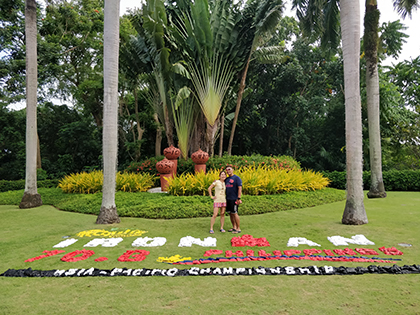 Nagal and her husband in the Phillippines for the Ironman 70.3 in Cebu.