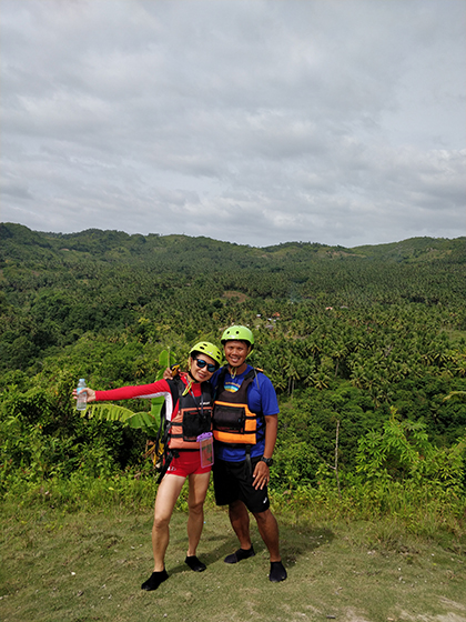 Nagal and her husband in the Phillippines.
