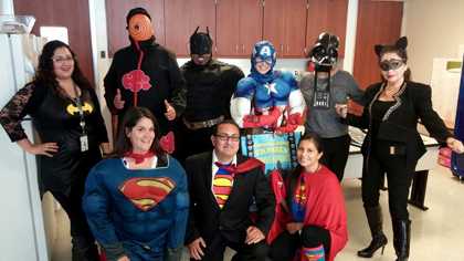 SouthEast Family Resource Center dressed up for Comic-Con in 2015.