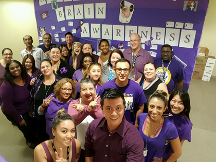 June was Alzheimer's and Brain Awareness Month. To help bring awareness to the cause, some employees set up a variety of activities to encourage brain health. The following was submitted by employees of the North Central Family Resource Center.