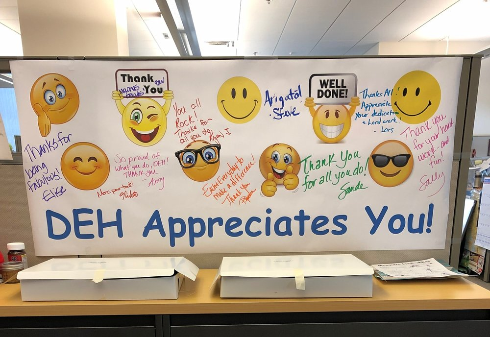 Thank you for all the hard work that DEH does every day.
