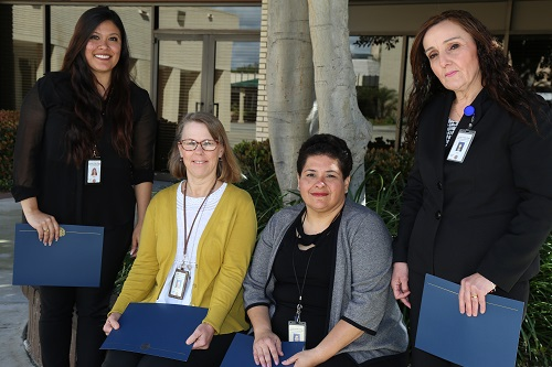 Juanita Venegas was honored with the annual Jay Hoxie Award. The nominees for the award: Brenda Ferro, Jen Rivas, Venegas and Neda Rivera. Not pictured is Nicole Espinosa.