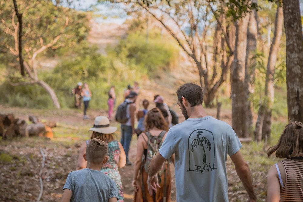 hiking through Alegría Village