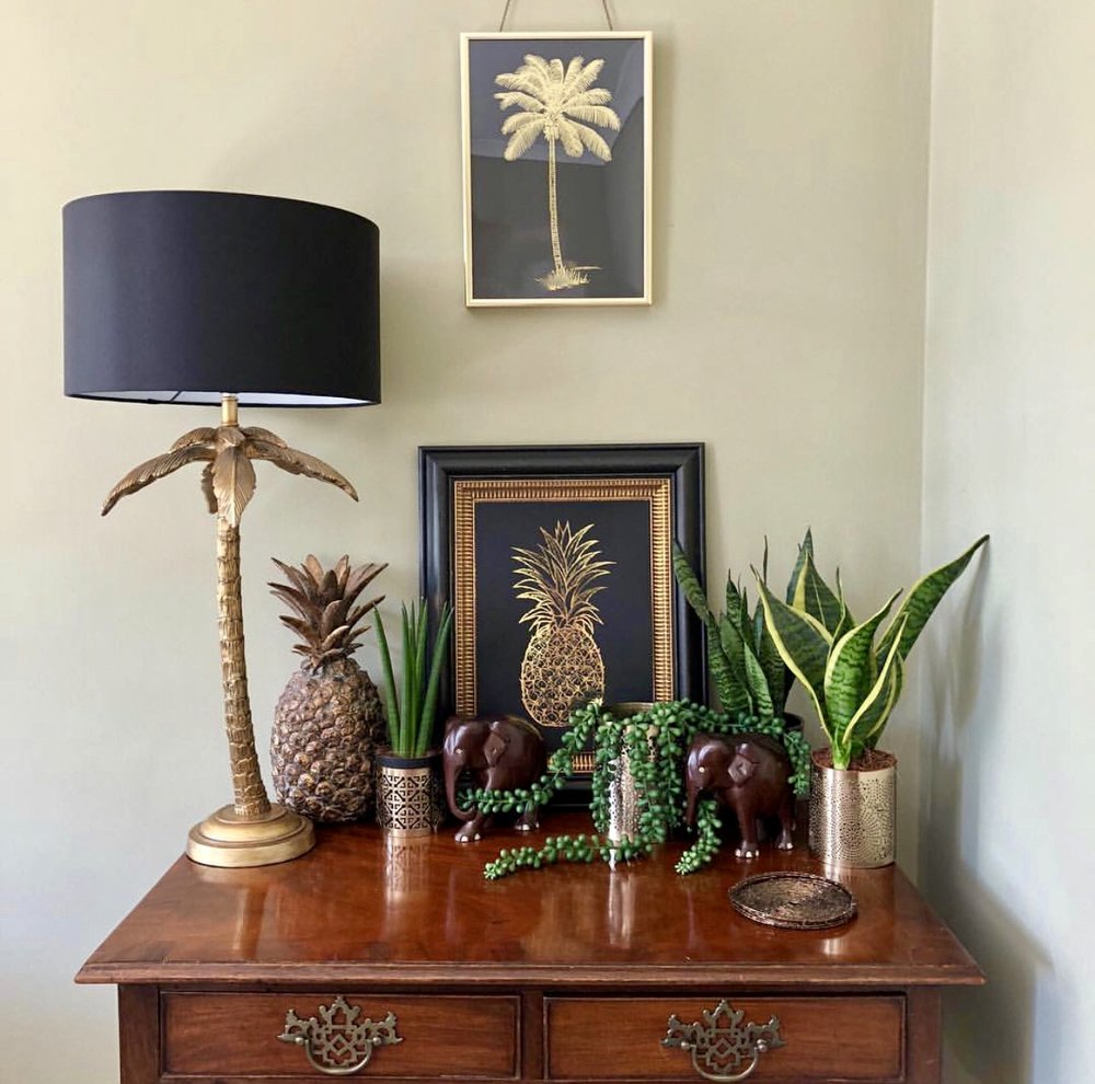 A lovely tropical themed Shelfie from  @hall_farm_cottage