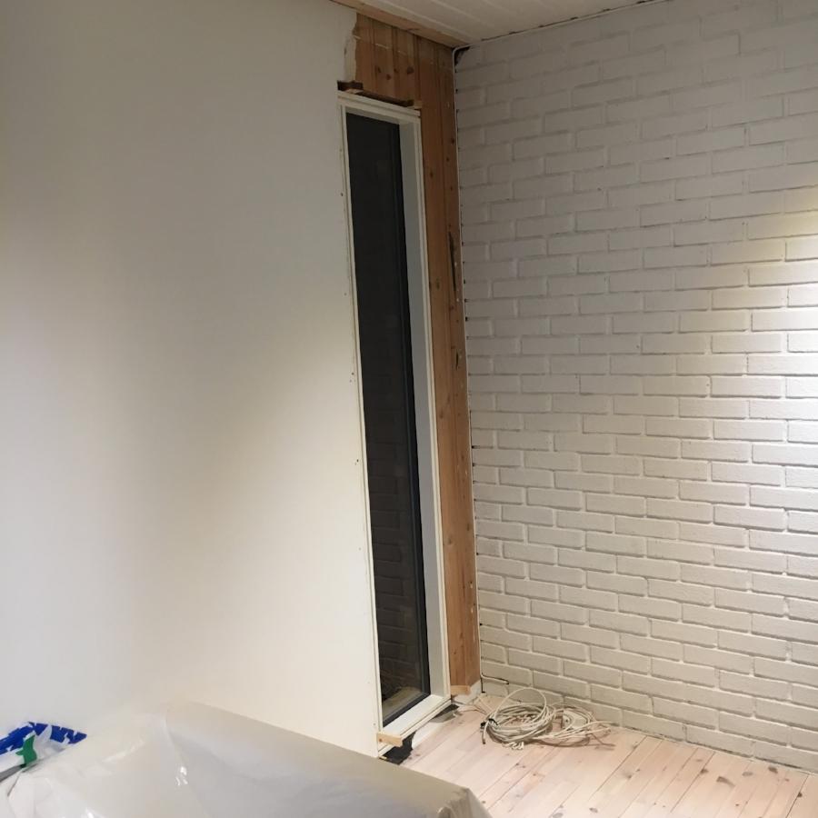 Nytt vindu, snart montert innerst i stuen