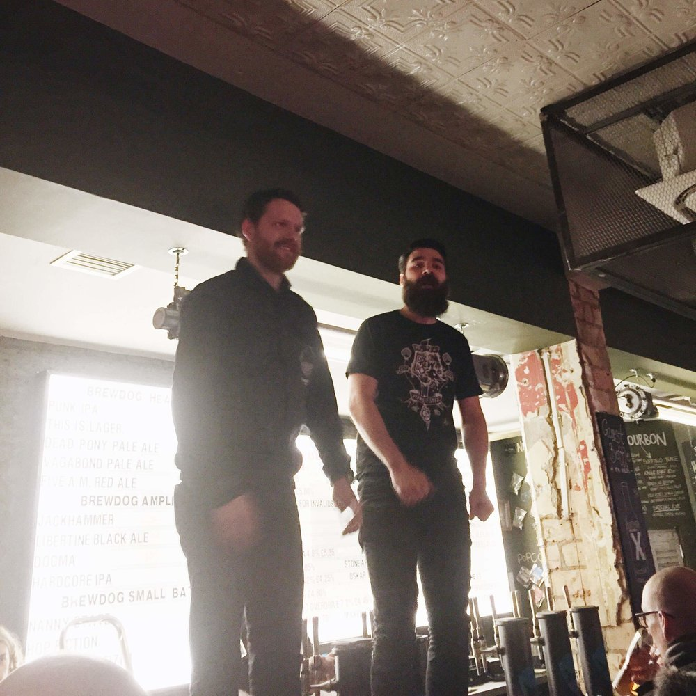 Will and Dean on the bar at Brewdog Shepherds Bush
