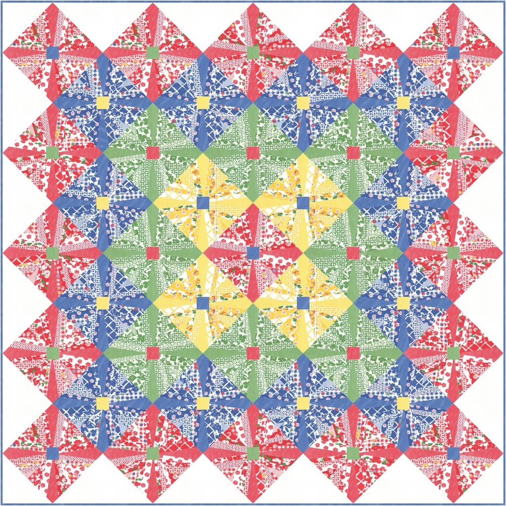 Signs of Spring quilt final image Feed Sacks Red Rover 4.jpg