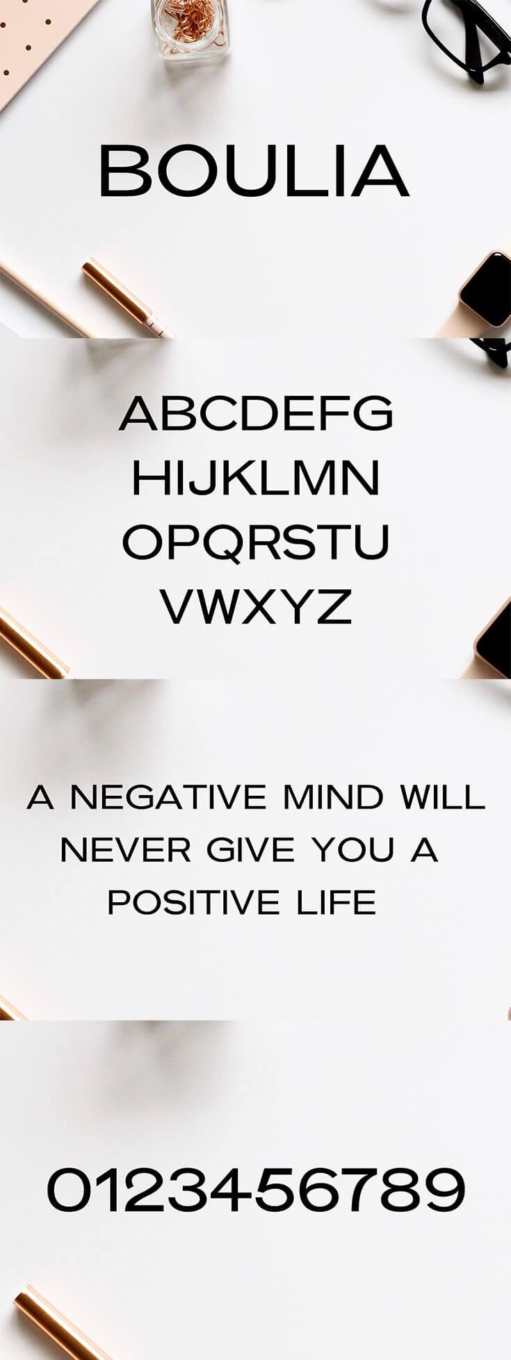Free Boulia Sans Serif Font