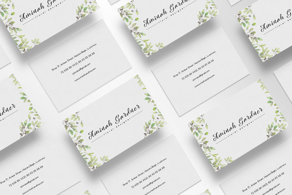 Free Floral Designer Business Card Template Creativeultra