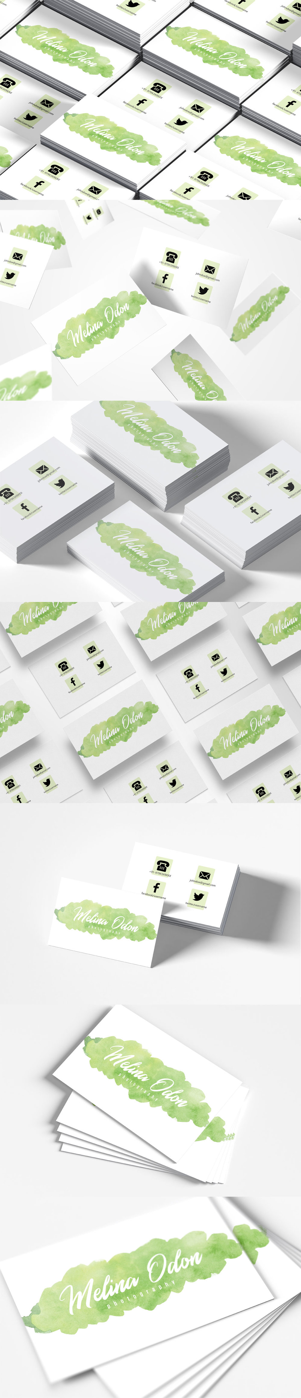 Free #Watercolor Photography #Business Card #Template is an eye-catchy business card template.