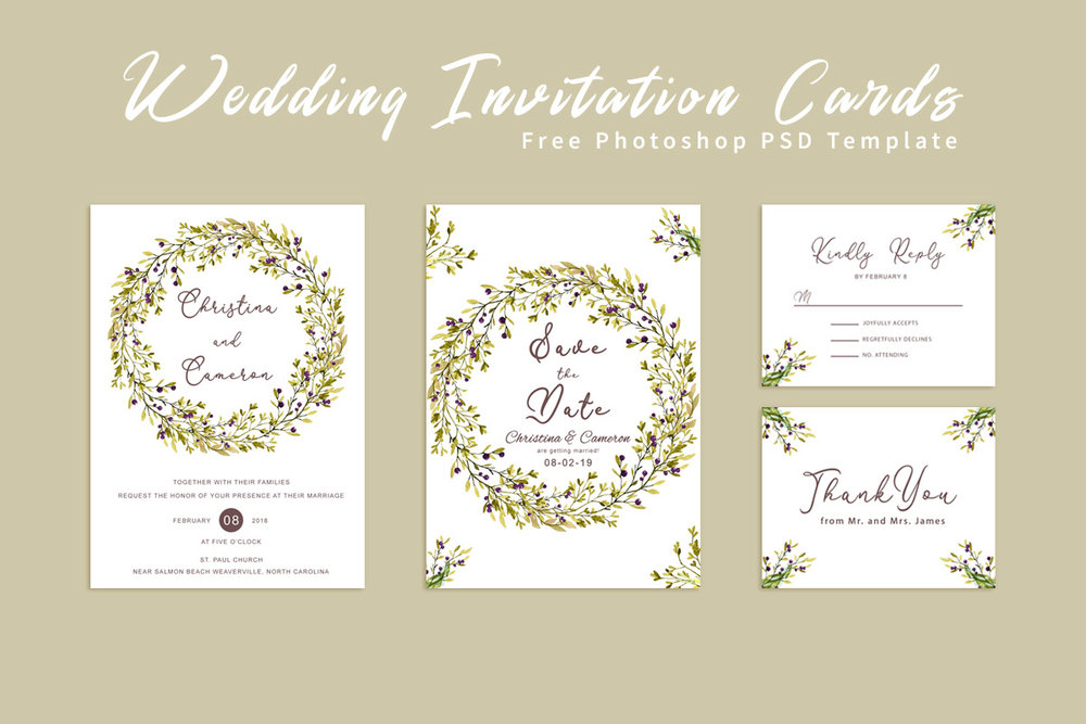 free wedding invitation card template creativeultra