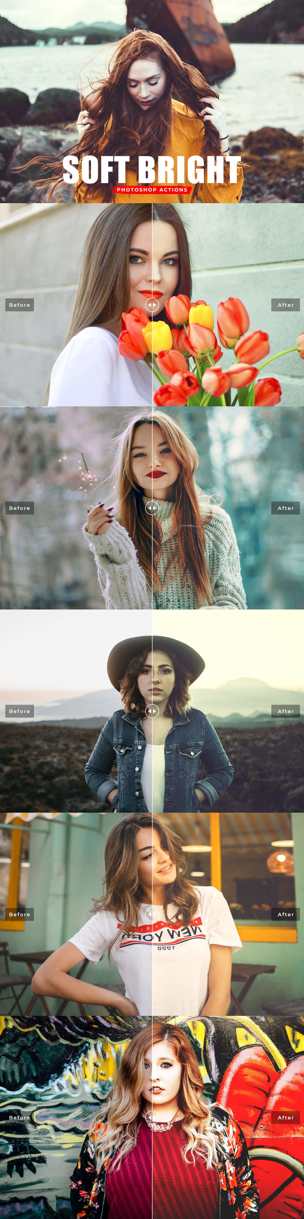 Free #Soft Bright #Photoshop #Actions will brighten up your photography and give it that dreamy soft bright effect look in your photographs.