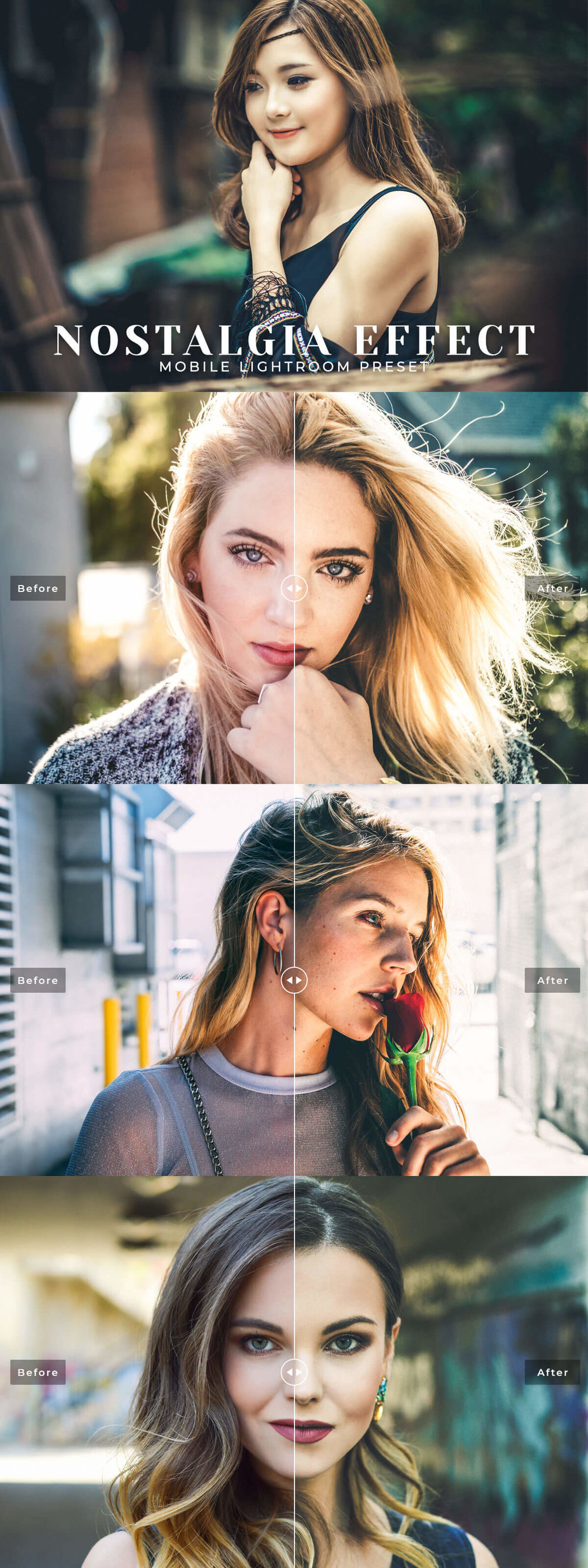 Free Nostalgia Effect#Mobile #Lightroom #Presetwill add memorable film-like look effects with your portraits in perfect finishing touch with just in one click.