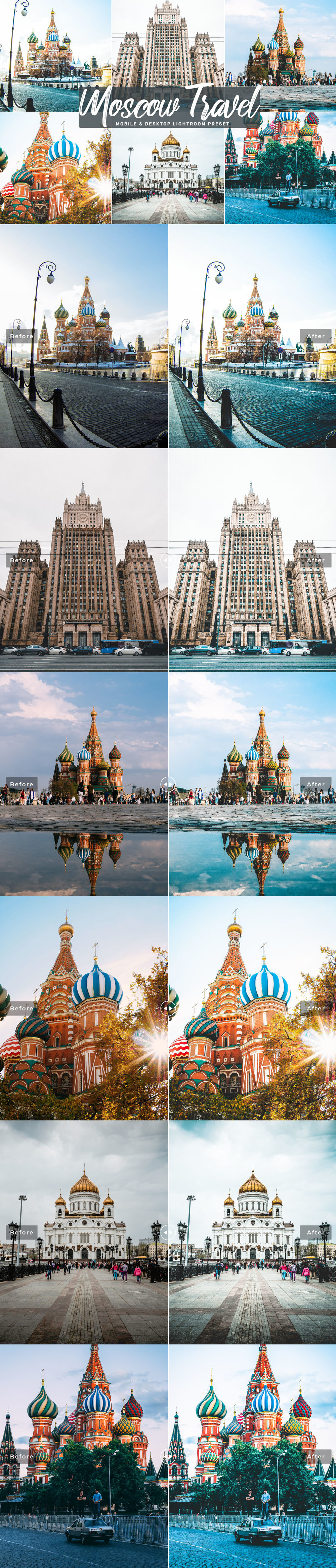 Free #Moscow Travel #Lightroom #Preset will create trendy soft tone in a few click and allow you to spend more time shooting.