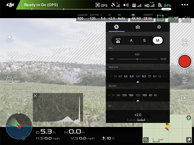 Screenshot live feed and camera controls