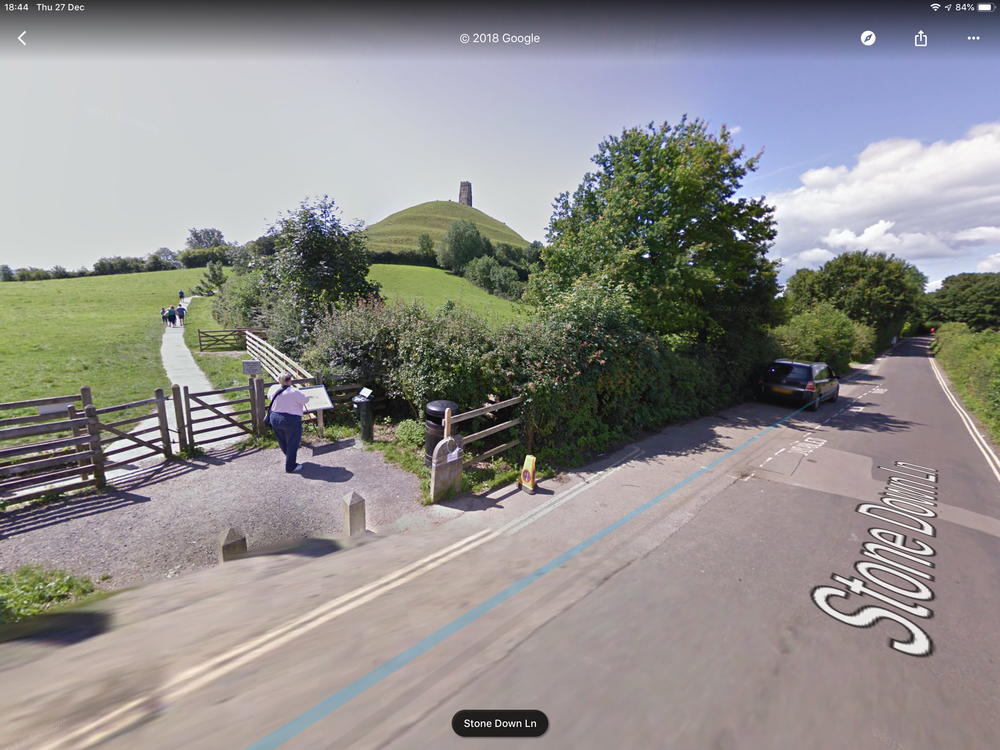Google Maps View of road to park.