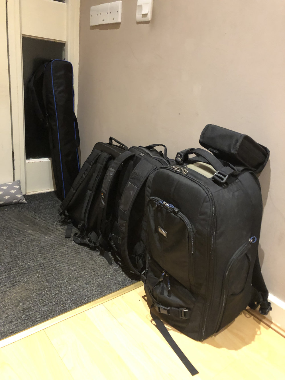 All packed ready to go in the morning.