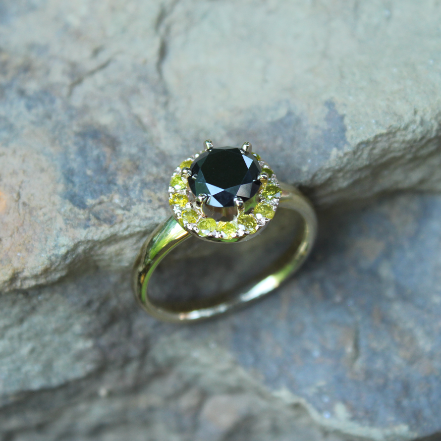Black and Yellow Ring