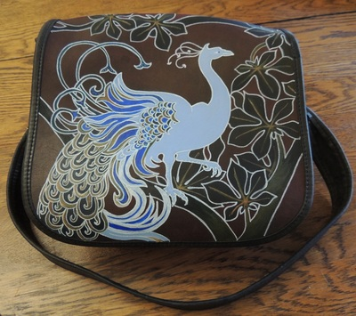 Painted Peacock Purse by Valeria Birch