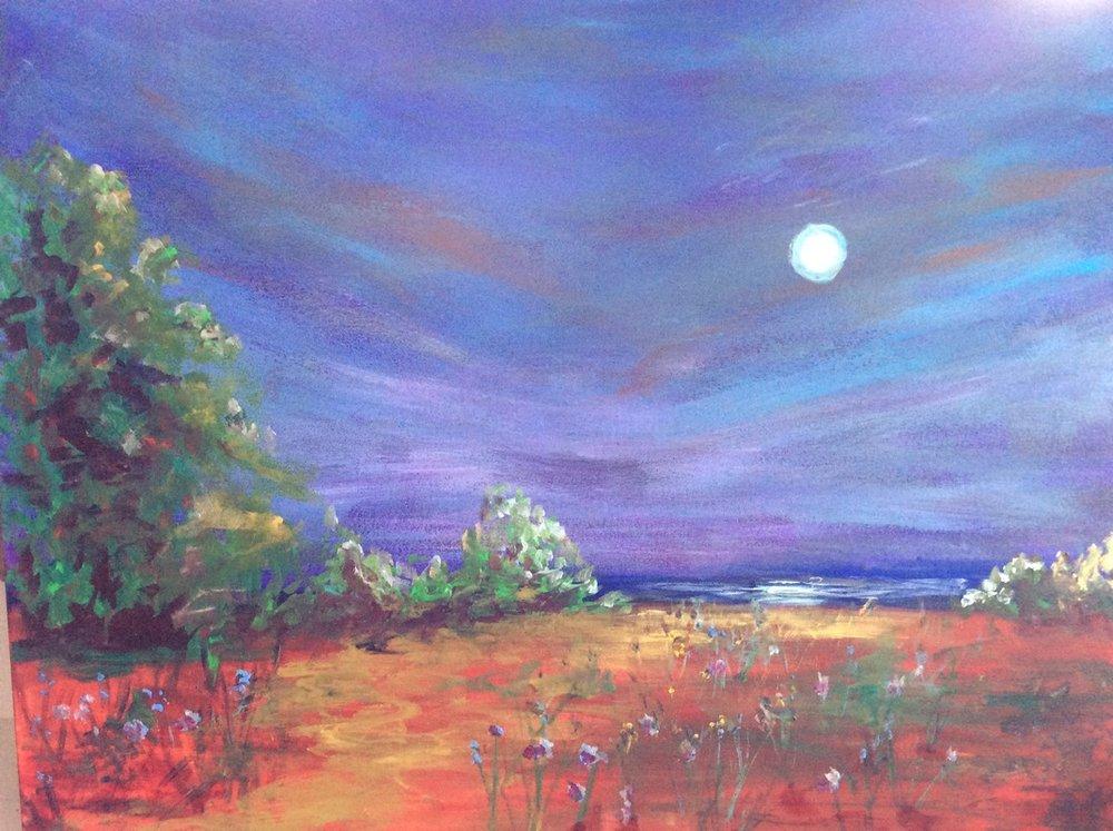 """Pamela Callen, """"Blue Moon Rising"""""""