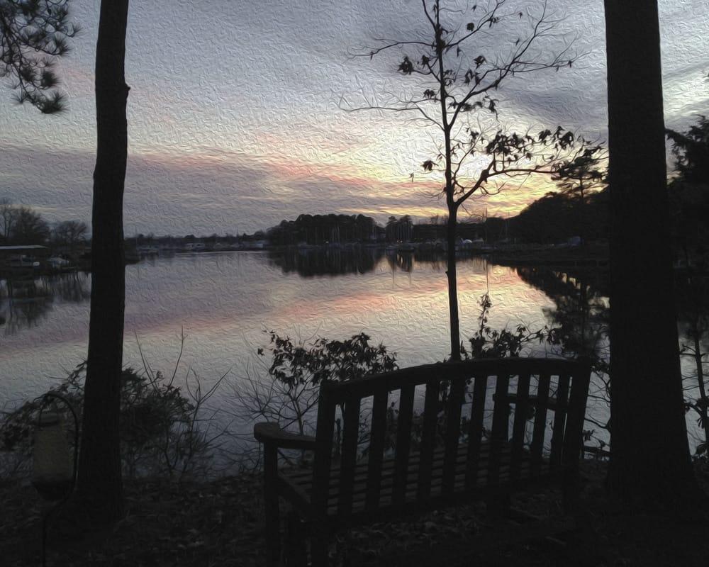 "John Okay ""Sunset at Back Creek Shore"""