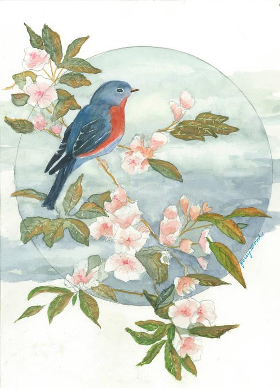 Bird & Flowering Branch