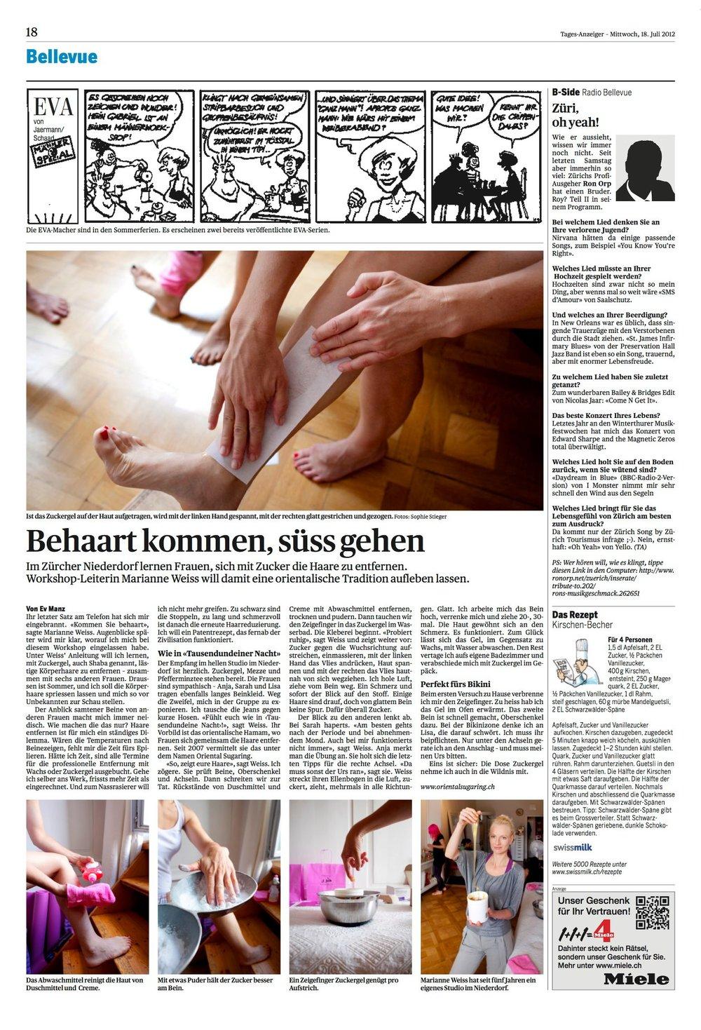 Tages Anzeiger, 18. Juli 2012