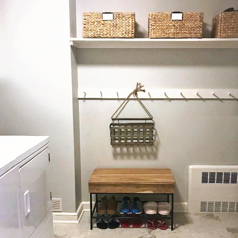 organized laundry & mudroom