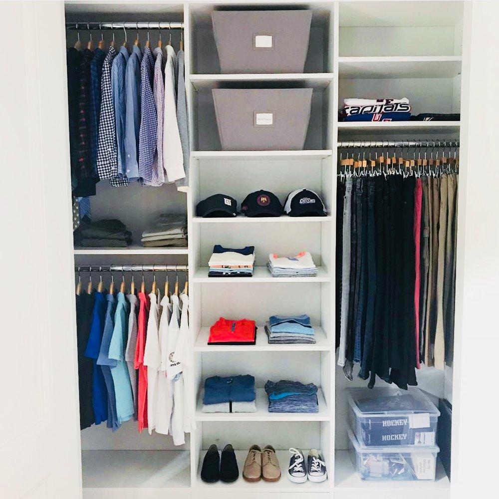 organized kids closet