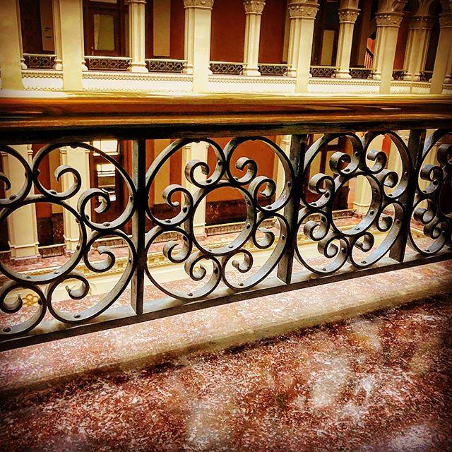 Hand wrought iron work, Landmark Center, St. Paul.