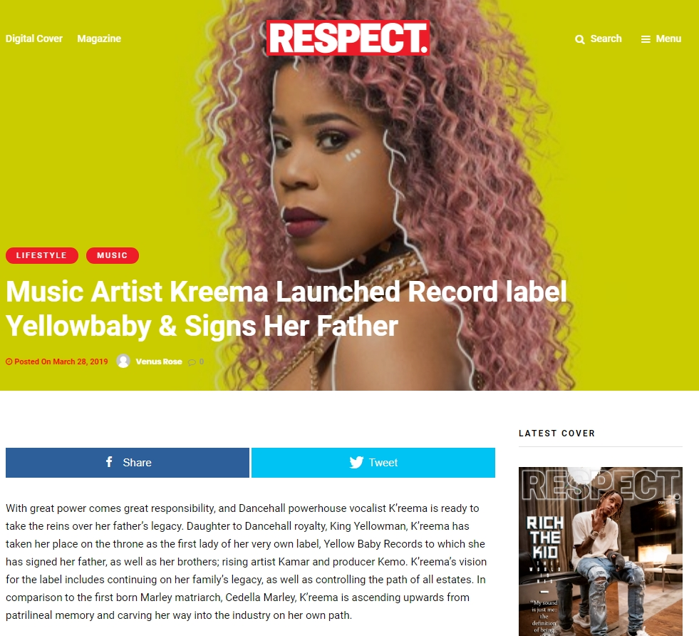 Music Artist Kreema Launched Record label Yellowbaby & Signs